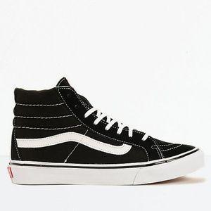 Vans Sk8-Hi Slim Black & True White Shoes